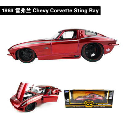 JADA 1/18 Scale Car Model Toys 2009 CORVETTE ZR1/1963 CHEVY CORVETTE STING RAY Diecast Metal Car Model Toy For Gift/Kids new year gift 1957 corvette 1 18 big metal classic car vehicle scale model collection alloy luxury delicate present toys diecast