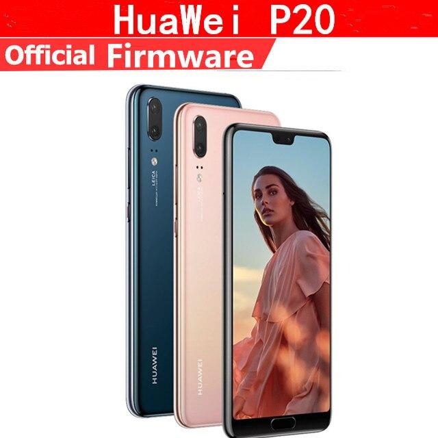 Téléphone portable d'origine HuaWei P20 4G LTE Kirin 970 Android 8.1 5.8