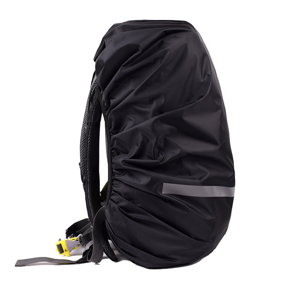 Image 4 - Reflective Light Waterproof Dustproof Backpack Rain Cover Portable Ultralight Shoulder Bag Protect Outdoor Tools-in Raincoats from Home & Garden