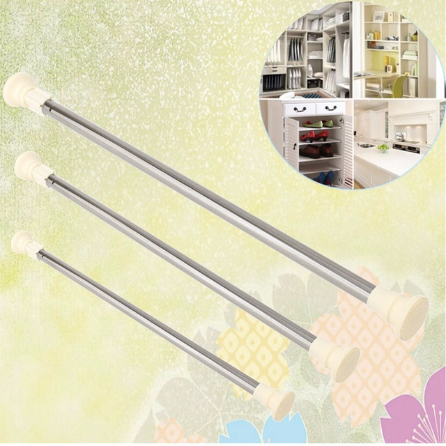 NEW Stainless Steel Adjustable Curtain Rod Extendable Spring ...