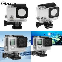 Gizcam Camera Accessories 45m Underwater Diving Waterproof Case Shell Cover Housing Skeleton Frame For Gopro Go