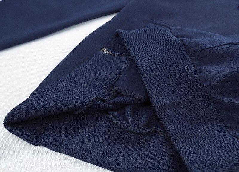 2019 модные толстовки с капюшоном Для мужчин Толстовка Топ пуловер Блузка Hombre хип хоп Для мужчин s Черный Толстовка с капюшоном на молнии Slim Fit ... - 6