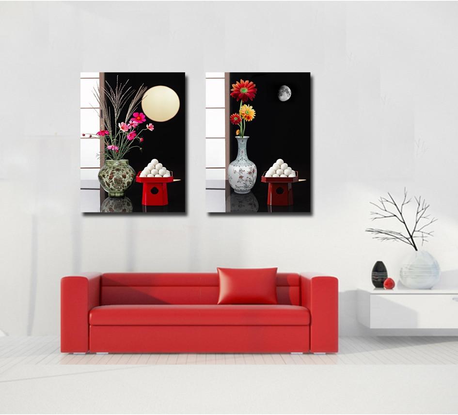 2 pièces/ensemble moderne mur peinture de toile d'impression d'art ...