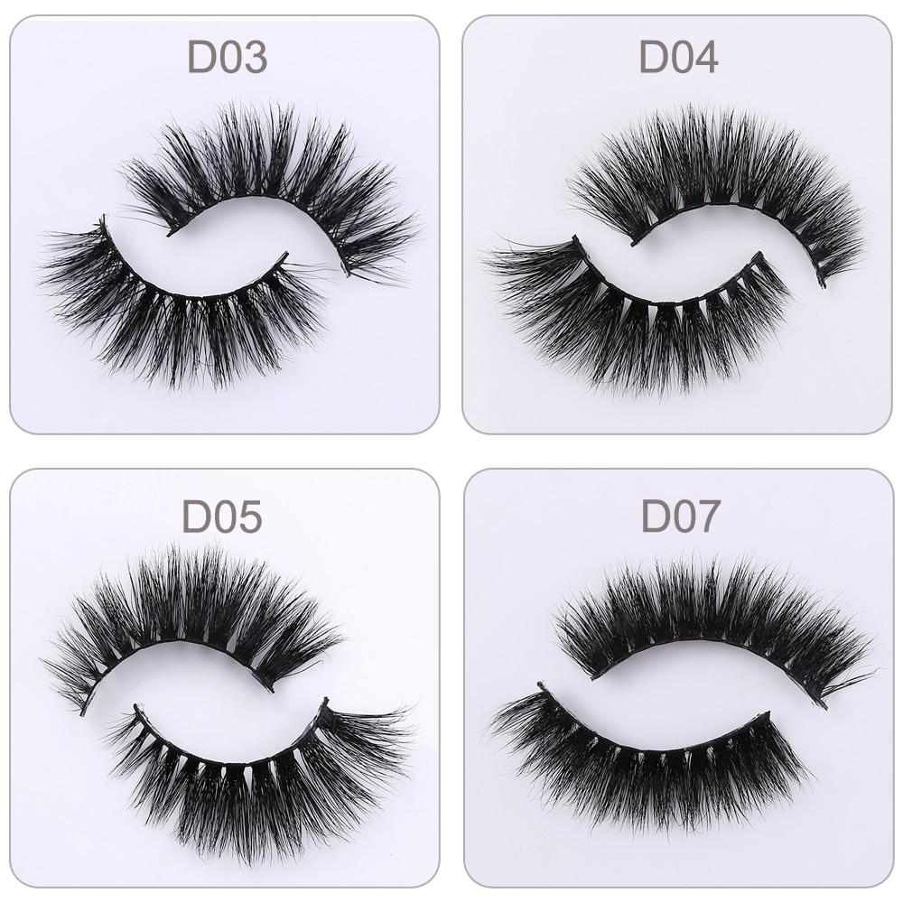 11b2dc0440d LEHUAMAO False Eyelashes 3D Mink Eyelashes Crossing Natural 5D Mink Lashe Hand  Made Full Strip Eye Lashes 38 Styles New Package