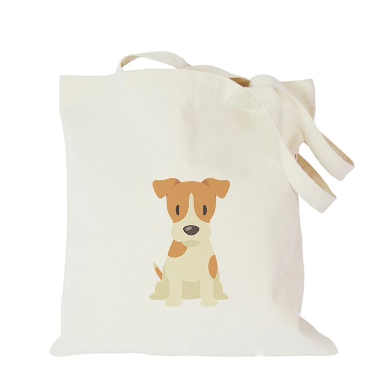 Pet dog series canvas bag custom tote bag customized eco bags custom made shopping bags with logo  Dachshund Shepherd Dog Poodle (10)