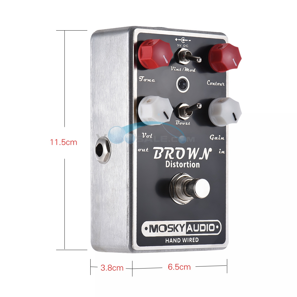 Mosky BROWN DISTORTION 4 knobs hand-built effect Guitar Effect Pedal