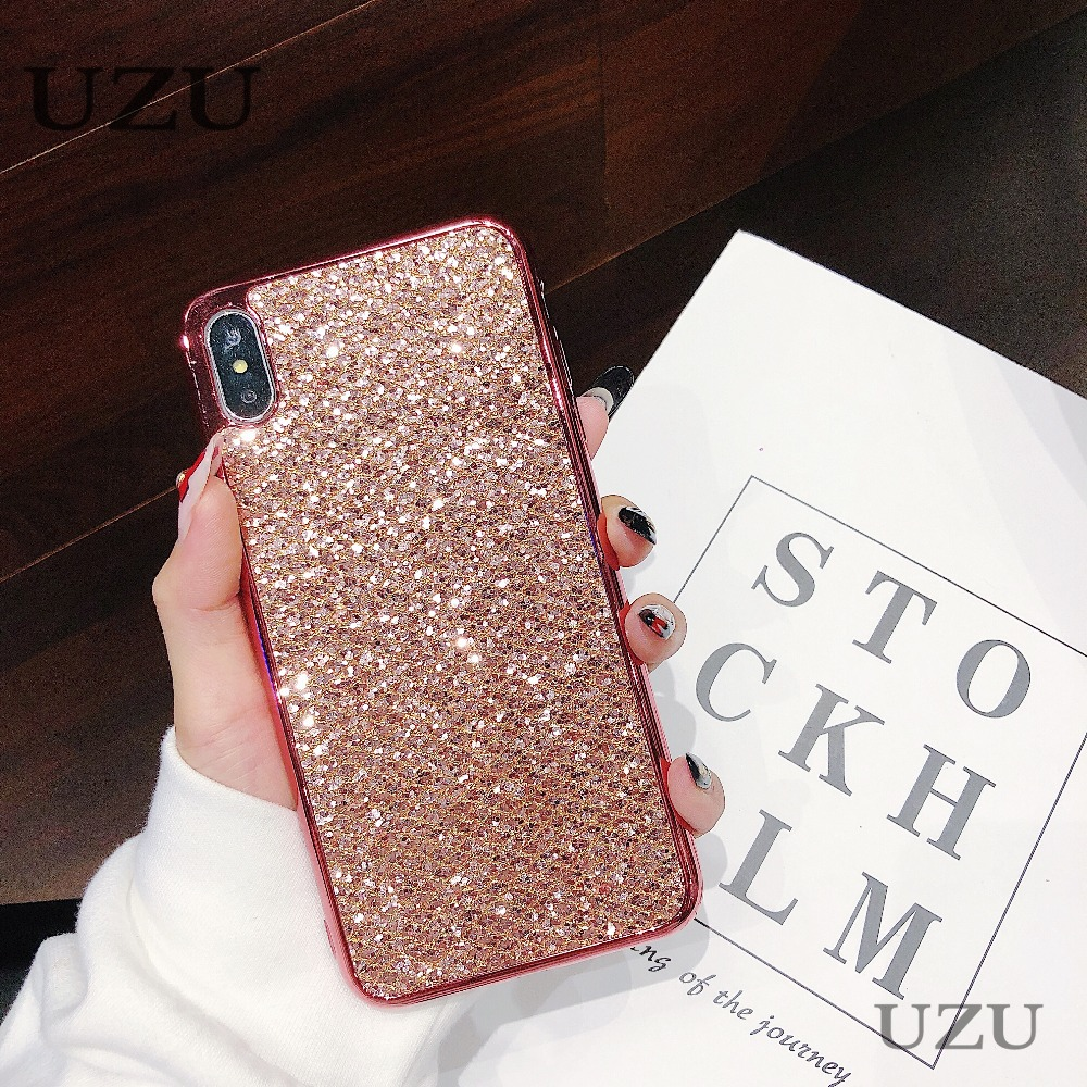 glossy phone cover for iphone x xs max xr luxury dazzle colorful honor geometric for iphone 6 6s 8 5s se 7 plus 8plus etui coque