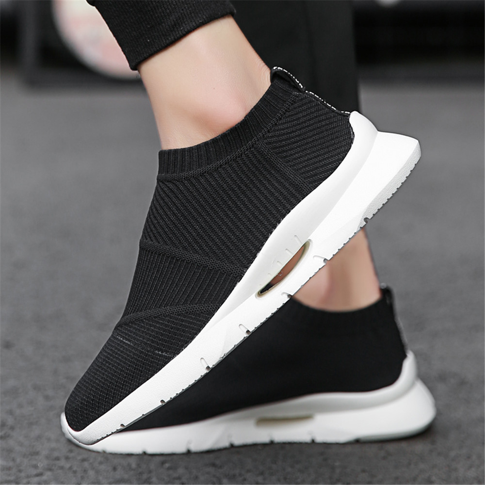 Men Fly-Knitted Shoes For Man Sneaker Male Fashion Sock Shoes Breathable Causal Shoes Men Summer Shoes ...