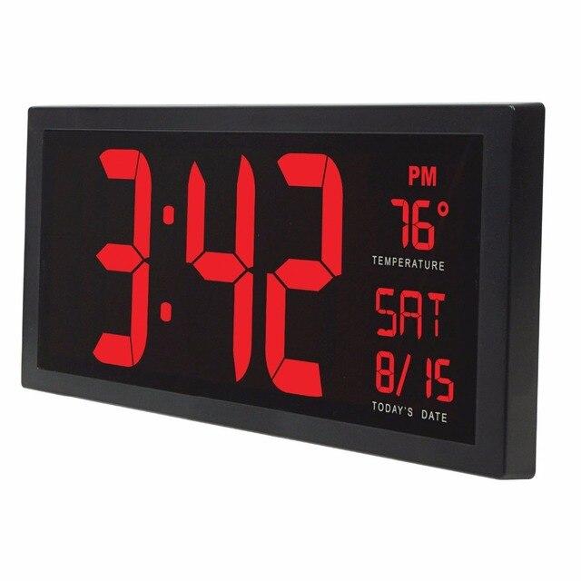 14 Pouces Grand Ecran Electronique Mur Horloge De Bureau Led