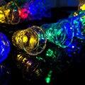 Jingle Bells Movido A Energia Solar Luzes Da Corda 15 Pés 20 LED para o Exterior, jardim, gramado, pátio, vestido de casamento, natal, as partes, banheira