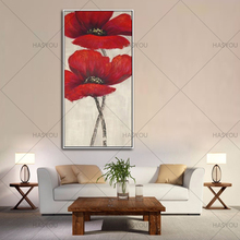 Wall Art Abstract handmade oil Paintings Modern red flower Oil Painting On Canvas Home Decoration Living Room wall Pictures