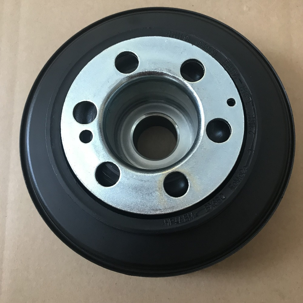 CCIYU Harmonic Balancer Belt Drive Pulley Fits for 2015-2019 Land Rover Discovery Sport 2013-2015 Land Rover LR2 2012-2019 Land Rover Range Rover Evoque