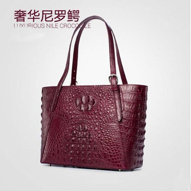 c47efbf76c1f Gete imported the new 2016 Thailand crocodile skin bag ladies fashionable  Europe and the United States leather shoulder bag ladi