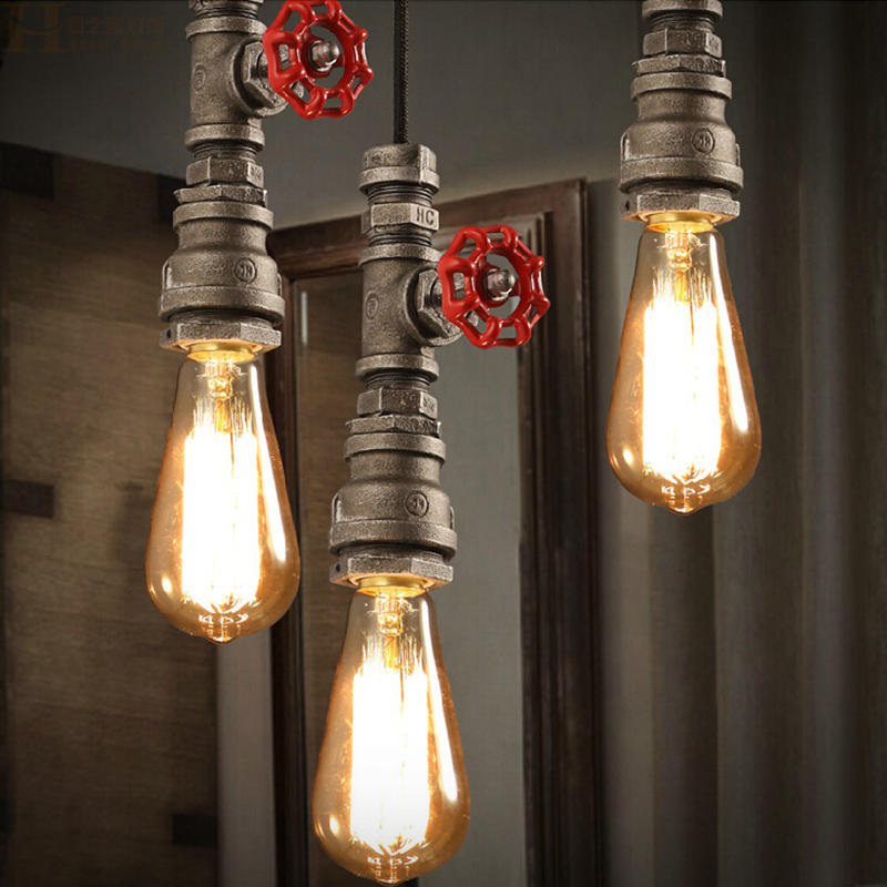 NEW Vintage Iron Pendant Light Industrial Loft Retro Droplight Bar Cafe Bedroom Restaurant American Country Style Hanging Lamp(China)