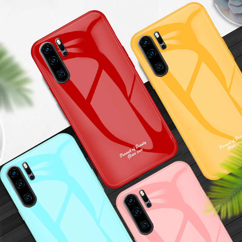 For Huawei P30 Pro P20 Lite Case P Smart Plus 2018 Slim Tempered Glass For Coque Huawei Honor 20 Pro 8X V20 Y9 2019 Y7 Pro Cases