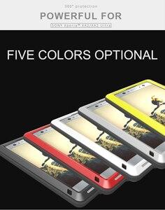 Image 2 - Pour SONY Xperia XA2/XA2 Ultra coque LOVE MEI résistant aux chocs et à la saleté coque de téléphone en métal résistant à leau pour Sony Xperia XA2