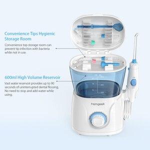Image 3 - Homgeek Wasser Flosser irrigador Oral Irrigator Zähne Reiniger Pick Spa Zahn Care Clean Mit 7 Tipps Für Familie