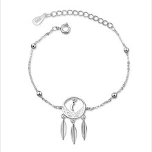LUKENI Charm Silver 925 Bracelets For Women Jewelry Top Quality Feather Lady Bithday Party Accessories 2018 Hot