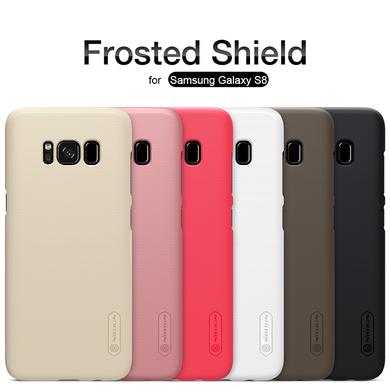 for Samsung Galaxy S8 Nillkin Frosted Shield Hard Back PC Cover Case for Samsung Galaxy S8 Plus Phone Case + Screen Protector