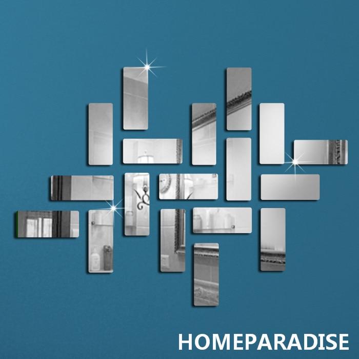 18Pcs Rectangular Pattern Frame Crystal Reflective DIY ...