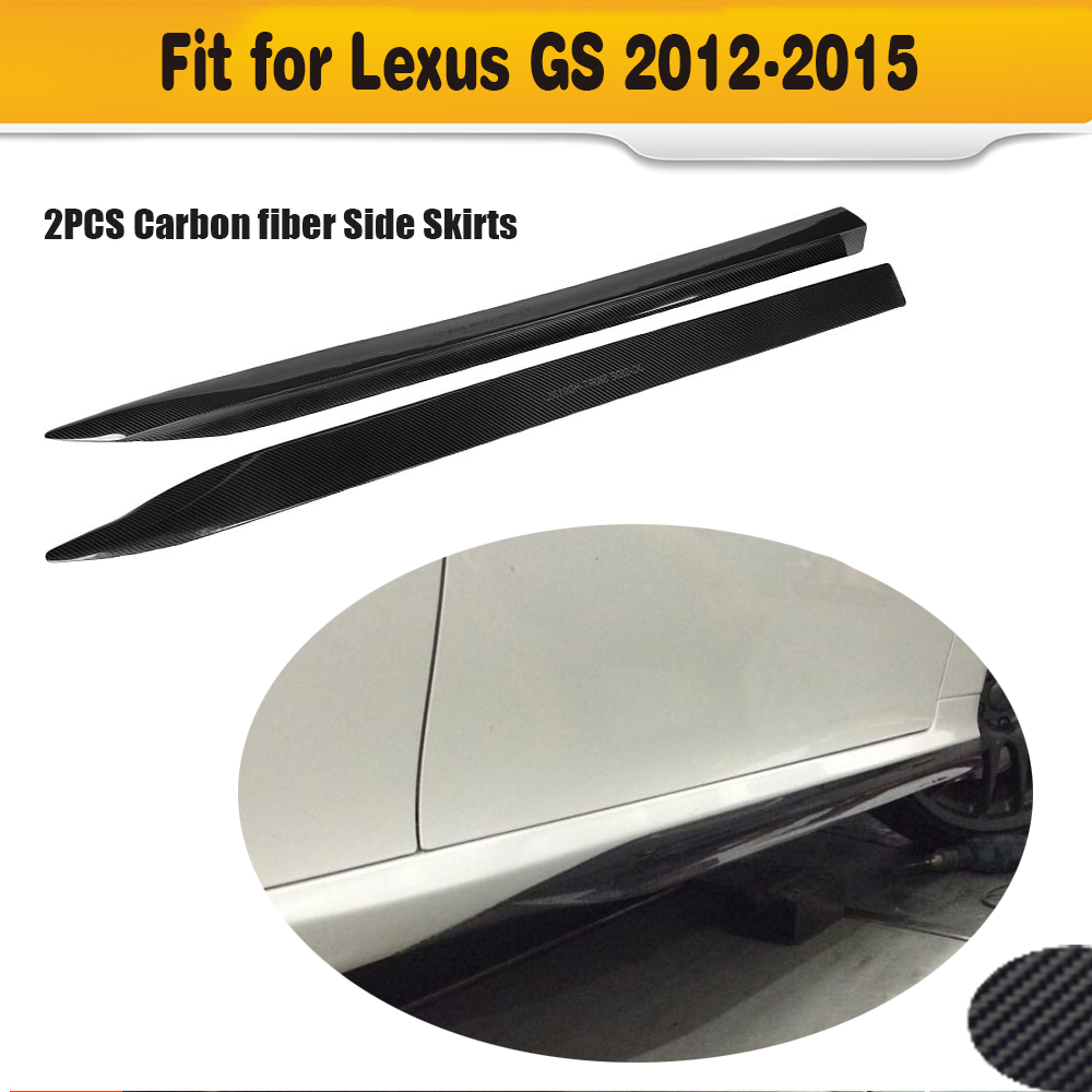 Carbon Fiber Side Skirt body kit apron For <font><b>Lexus</b></font> <font><b>GS350</b></font> 2012 2013 <font><b>2014</b></font> 2015 F Sport Bumper Only image