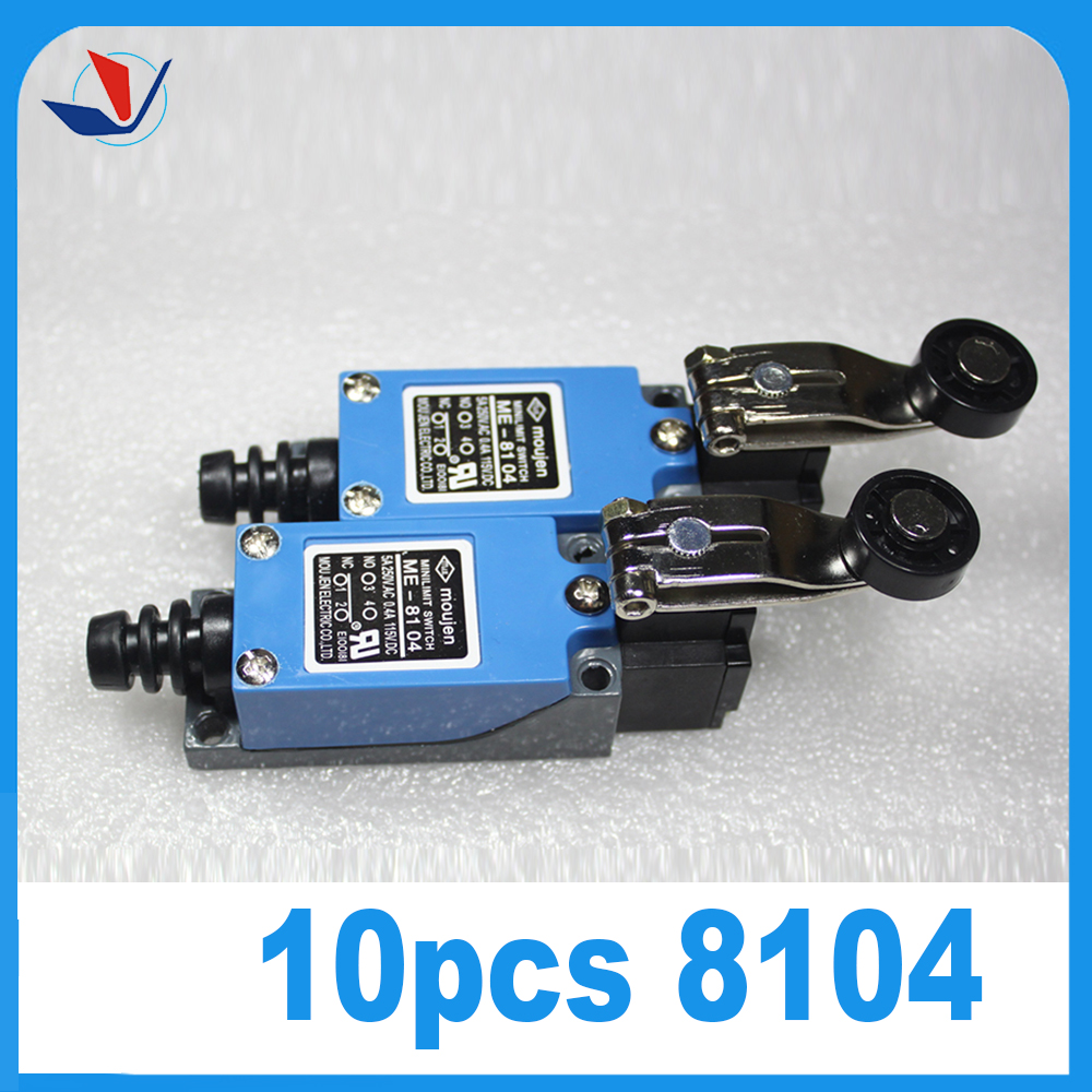 10Pcs ME-8104 Rotary Plastic Roller Arm Enclosed Limit Switch Finish Machine