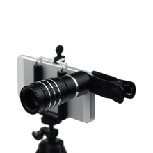 Wholesale prices 1 Pcs Universal 10x Mobile Phone Optical Zoom Telescope Telephoto Round Camera Lens With Clip for iPhone 5 5s 6S 6 7 plus Black