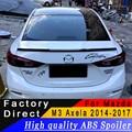 Für Mazda 3 M3 Axela 2014 zu 2017 jahr spoiler Hohe qualität ABS material Hinten flügel spoiler Primer oder jede farbe für Mazda 3 Axela