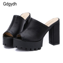 Gdgydh 2017 Hot Sales Summer Women Shoes Open Toe Platform Female Sandals Thick Heels Ladie Shoes Free Shipping Plus Sizes 34-43
