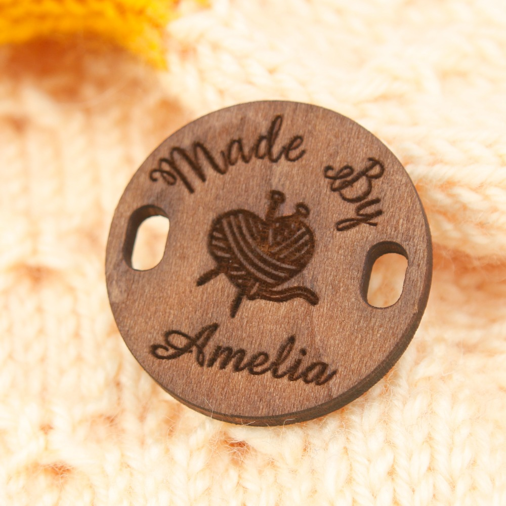 Custom Wooden Tags, Custom Clothing Labels, Clothing Tag, Labels For Handmade, Branding Tag (WDBQ101)