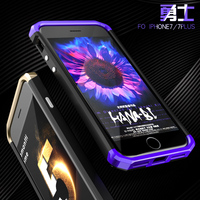 Phone Bumper For Iphone 7 4 7 Inch Color Aluminum Metal Frame PU Back Cover Ultra