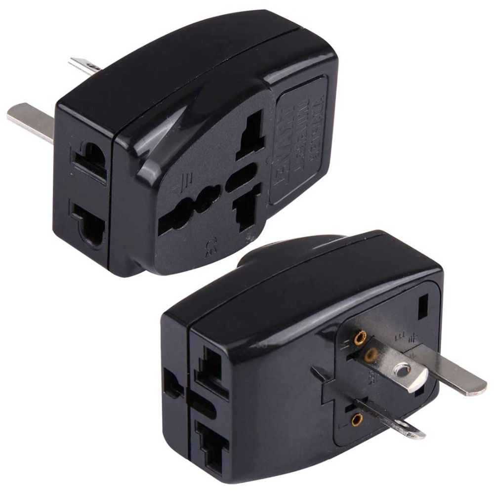 WDS-16 Portable Universal Plug to AU Plug Grounded Adapter Power Socket Travel Converter