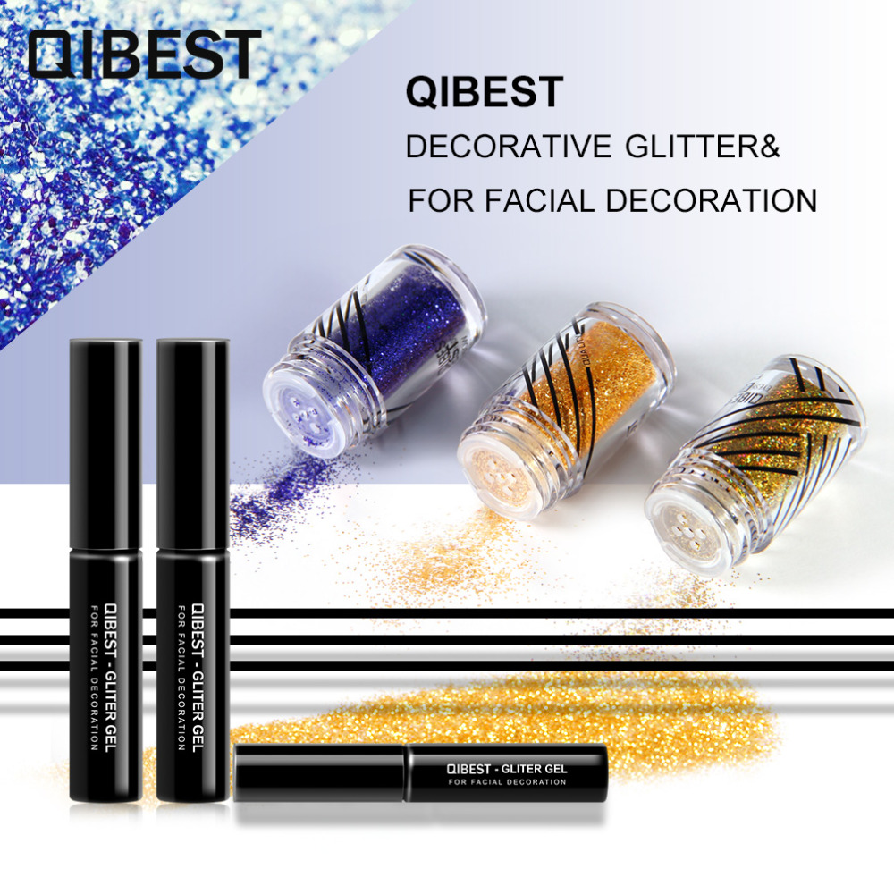 2019 Latest Design Qibest Shimmer Glitter Powder Eye Shadow Face Eyes Lips Nails And Glue Waterproof Colorful Laser-makeup Brand Qibest #l18036 Beauty Essentials Beauty & Health