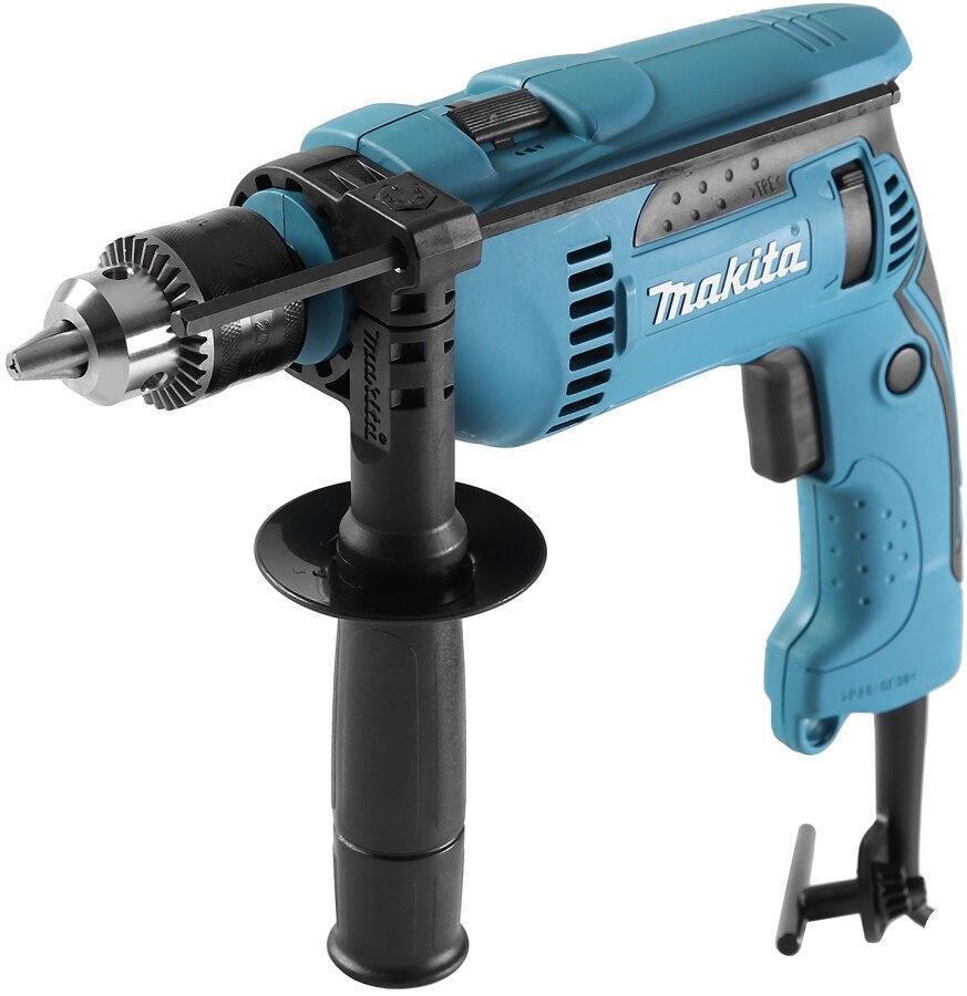 Drill impact Makita HP1640 (Impact mode, 44800 beats per minute, case) drill impact makita hp1630 no load speed 3200 rev min 48000 beats per minute reverse