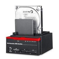 3 Slots Hard Disk Holder 2 USB Port Multi function Hard Disk Drive Base for Card Reader NK Shopping