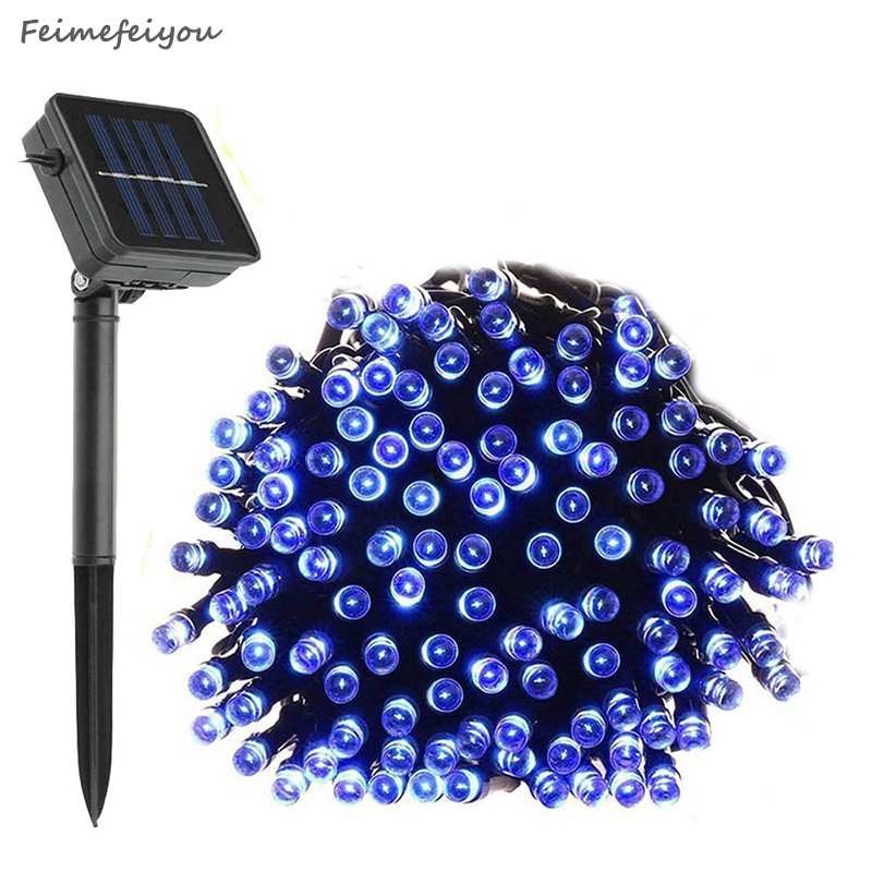 Feimefeiyou 22m 200LED solar Waterproof Festival Decoration Light garden String Light for decorative XMAS/party lighting outdoor