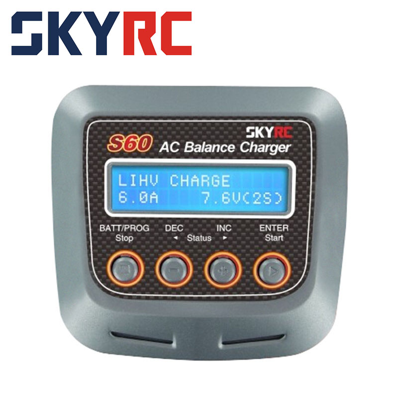 Skyrc S60 mini AC/DC 2-4S Multi Functions Digital Charger for all RC Jets Cars Truck skyrc engine heater with xt60 dc wire 2pcs for rc car