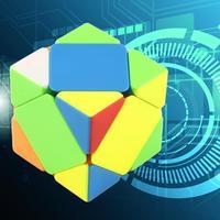 OCDAY 4-Axes Hexahedral Magia Krzywa Sześciennych Helikopter Twist Puzzle Toy Nowy Sprzedaż