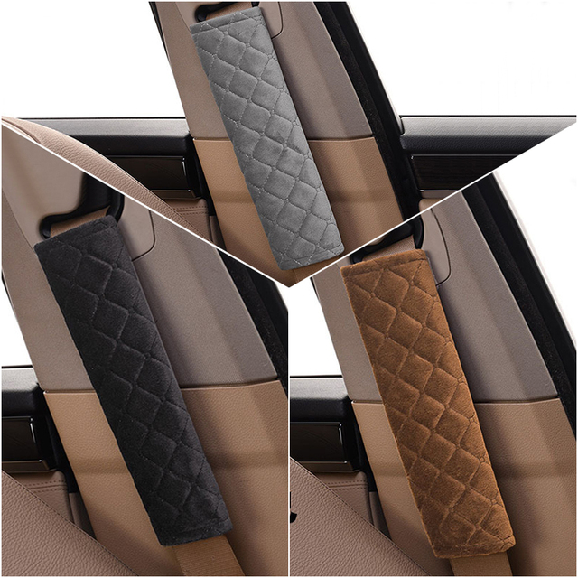 Car Seat Belt Shoulders Pads Covers Goods Cushion Warm Short Plush Safety Shoulder Protection Auto Interior Accessories 4 Season