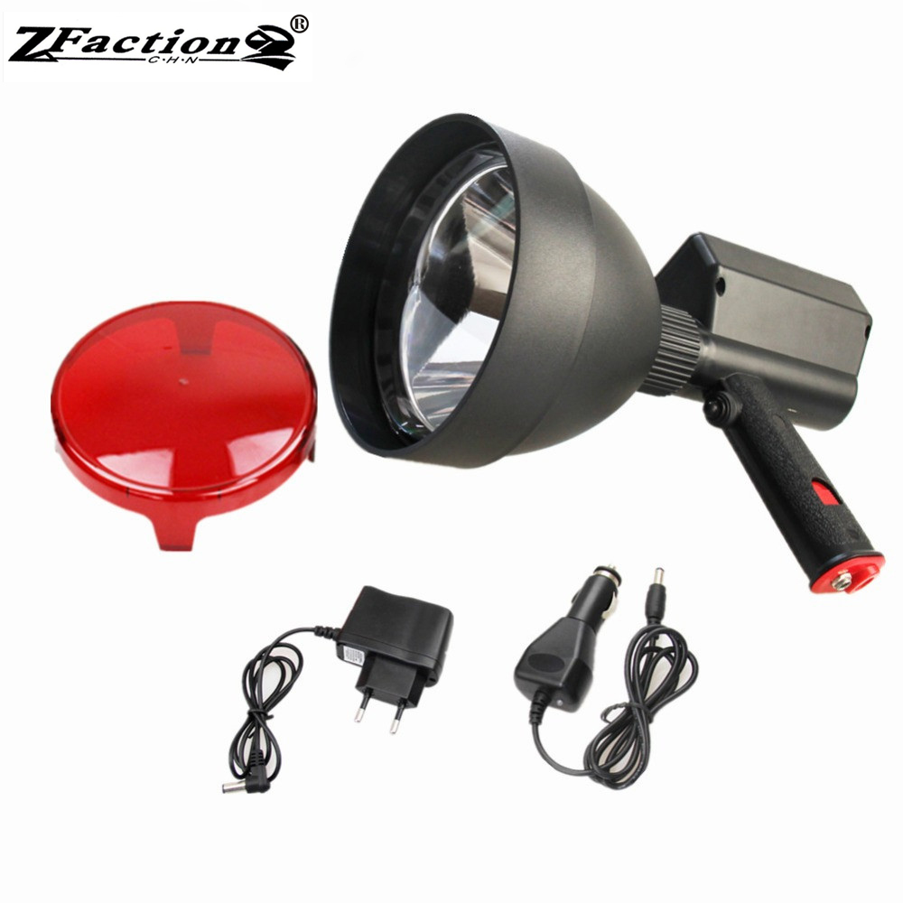 Rechargeable Imported 1200LM XML2 CREE T6 10W LED Hunting Handheld Spotlight 150mm LED Portable spotlight Durable