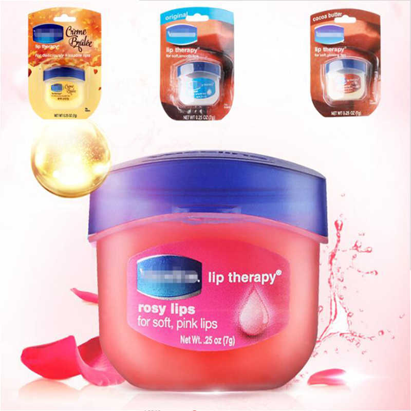 1 ชิ้น Pure Petroleum Jelly Protectant Moisturizer แห้งและแตก Lip Balm Natural Organic Lip Care Moisturizing Cream