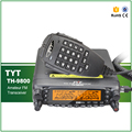 Transporte rápido Quad Band HF VHF UHF TYT TH-9800 Ham Radio Transceiver Scrambler Painel Destacável com Cabo de Programação