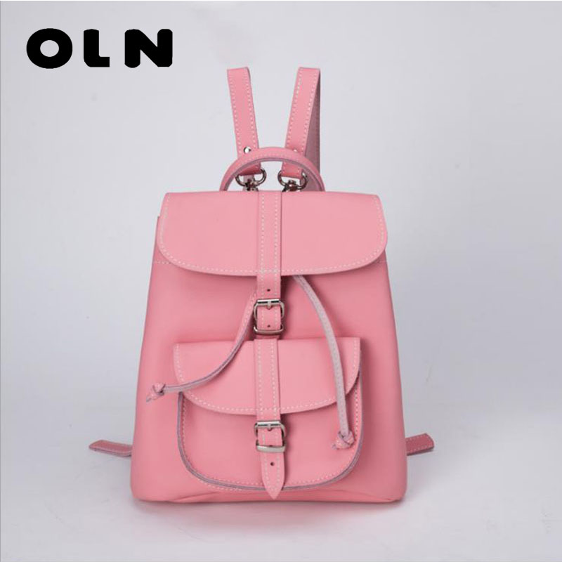 цены OLN Trendy Female Drawstring PU Leather Backpacks Teenage Girls Small School Bags Women High Quality Casual Rucksack