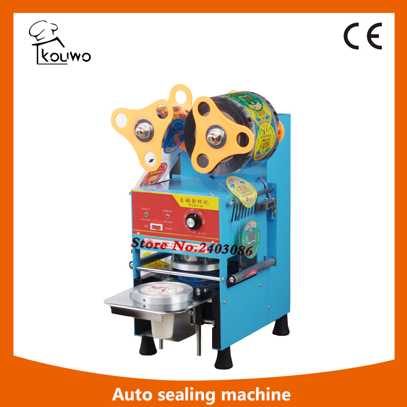 KW-A9 automatic sealing package machine for plastic cup food sealer machine for sales automatic continuous plastic film sealing machine for food cosmetic potato chips dbf 1000 110v 60hz