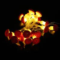 Romantic 2M 20LED Mushroom String Light Lamp With Battery Box Garden Party Decor Gift Brand New
