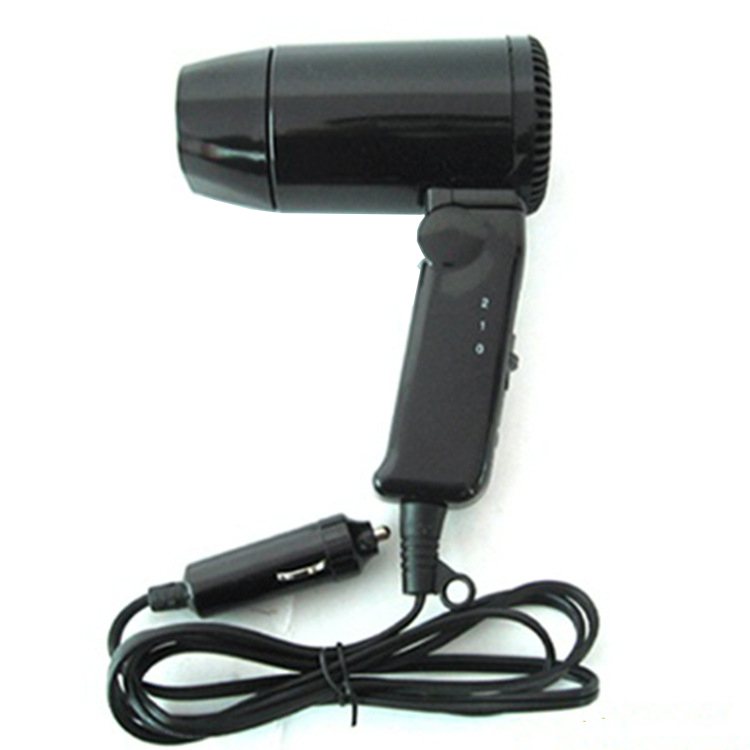 Folding On-board Hairdryer  Portable Vehicle Defrosting Blower  Warm Wind Vehicle Direct Current Hair Dryer  Vehicle Defroster