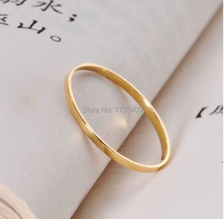 Pure Solid Yellow Gold Ring/ Lucky Men& Women Ring/ Us Size 4