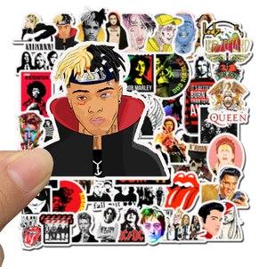 Image 5 - 50 pçs adesivos hip hop rock & roll banda personagem dos desenhos animados graffiti adesivo brinquedos para skate portátil bicicleta decalques f5