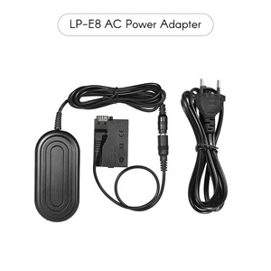 Image 2 - Andoer ACK E8 AC Power Supply LP E8 Dummy Battery Adapter Camera Charger for Canon 700D 650D 600D 550D /Rebel T5i T4i etcDSLR
