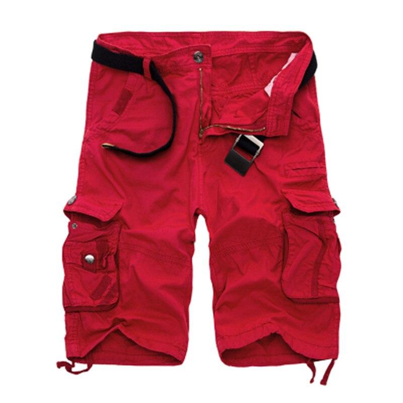 Mens Military Cargo Shorts 2019 Marke Neue Armee Camouflage Shorts Männer Baumwolle Lose Arbeit Beiläufige Kurze Hosen Plus Größe Keine gürtel